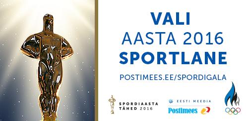 """EOK """"Aasta sportlane 2016"""" rahvahääletus"""