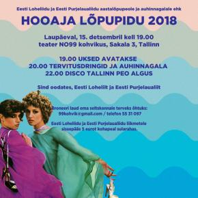 Eesti Purjelaualiidu ja Eesti Loheliidu 2018 hooaja lõpetamine toimub teater NO99 kohvikus 15. detsembril!