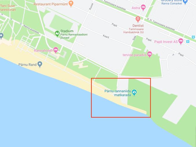 Pärnu surfiklubide esine rannaala