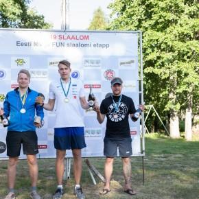 Slaalomi Eesti meistrivõistluste ja FUN slaalomi esimene etapp toimus 1. juulil Võsul
